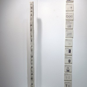 Upright 1 and 2 porcelain and chromos height 160 cm