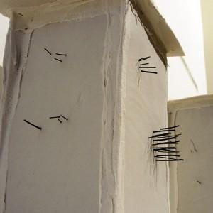 Espace intérieur : Papier porcelaine, fil de kantal 20 x 35 cm