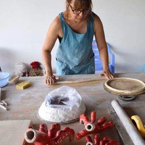 Florence Bruyas à l'atelier en Chine