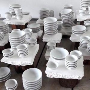 Installation porcelaine, détails