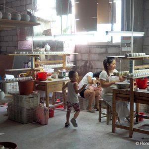 Wanqi, ouvrières émailleuses