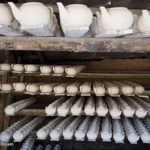 Théières – séchage – Dehua – Chine – Teapot – Dehua, China