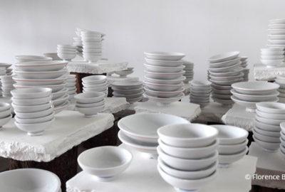 Détail - porcelaine et bois - detail - porcelain and wood